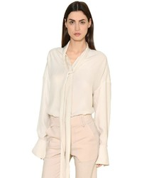 Chloé Silk Crepe Envers Satin Shirt