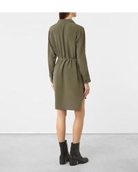 8f44cb0b396 ... AllSaints Alex Silk Shirt Dress ...