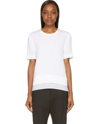 Helmut Lang White Silk Tissue Blouse