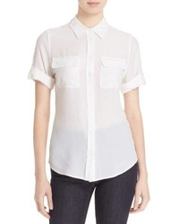 Equipment Slim Signature Short Sleeve Silk Shirt