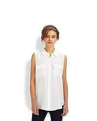 Equipment Slim Signature Silk Sleeveless Shirt