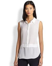 A.L.C. Ian Silk Sleeveless Shirt