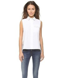 Rag and Bone Rag Bone Woodward Leather Pocket Top