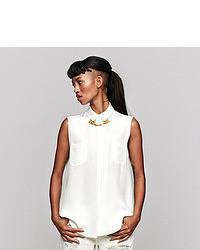 Sophie Hulme Gold Chain Sleeveless Silk Shirt