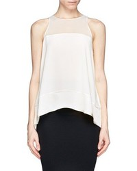 Nobrand Cannon Sleeveless Silk Satin Blouse