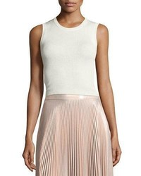 A.L.C. Herrick Sleeveless Silk Top White