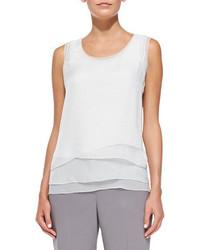Kinley sleeveless silk chiffon blouse medium 102192