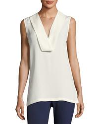 Salvatill sleeveless silk top ivory medium 4156842