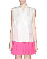 Nobrand Sleeveless Silk Charmeuse Blouse