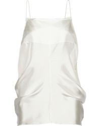White Silk Tank