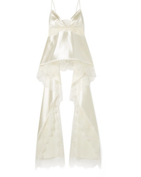 Danielle Frankel Chantilly Med Silk And Wool Blend Satin Camisole