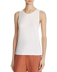 Vince Cotton Silk Twist Back Tank