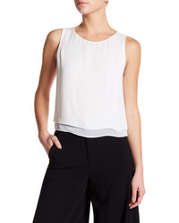Alice + Olivia Fanny Silk Double Layer Tank