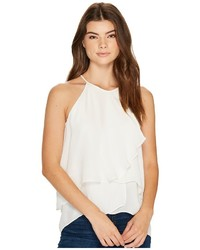 Nicole Miller Nico Layered Silk Tank Top Sleeveless