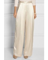 wide leg silk pants - Pi Pants