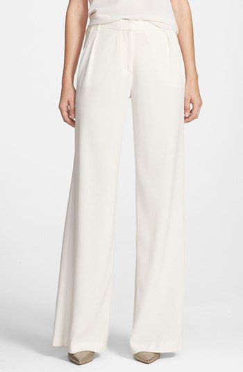 Chelsea28 Pleated Wide Leg Pants White Size 4 4 | Where to buy ...