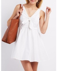Charlotte Russe Tie Front Sleeveless Skater Dress