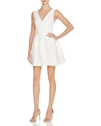 Aqua Mesh Neoprene Stripe Dress