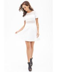 c88974d97416 Forever 21 Mesh Paneled Skater Dress