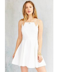 Silence & Noise Silence Noise Square Neck Strappy Skater Dress
