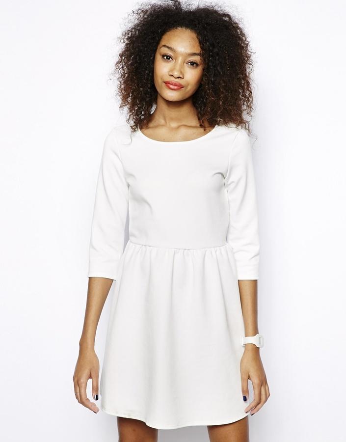 e796da80cd23 ... Vero Moda Short Sleeve Skater Dress White