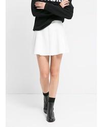 Mango Neoprene Effect Skater Miniskirt