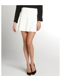 BCBGMAXAZRIA Off White Lucy A Line Mini Skirt