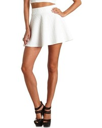 Charlotte Russe Quilted High Waisted Skater Skirt | Where to buy ...
