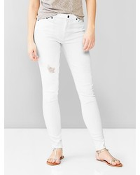 Gap 1969 Destructed Resolution True Skinny High Rise Jeans