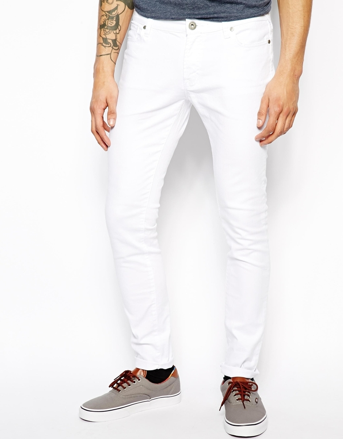 Criminal Damage Super Skinny Jeans In White | Where to buy & how ...
