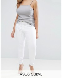Asos Curve Curve Ridley Skinny Jean In White