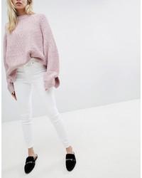 New Look High Rise Skinny White Jean