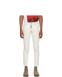 DSQUARED2 Off White Sexy Mercury Jeans