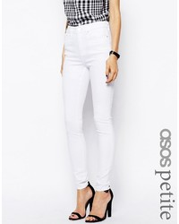 Asos Petite Petite Ridley High Waist Ultra Skinny Jeans In White