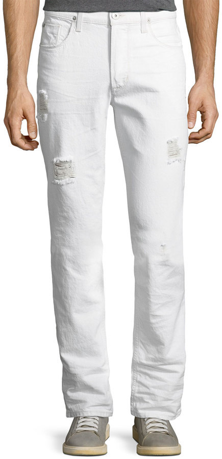 beautiful design temperament shoes new selection $113, Hudson Sartor Slouchy Skinny Denim Jeans White