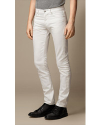 Burberry Slim Fit White Jeans
