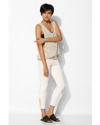 BDG Twig Grazer High Rise Lace Up Ankle Jean White Screen