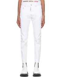 DSQUARED2 White Skater Jeans