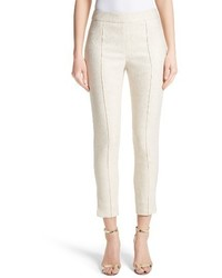 St. John Collection Metallic Jacquard Crop Pants