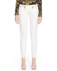 Versace Collection Zip Detail Skinny Cady Ankle Pants
