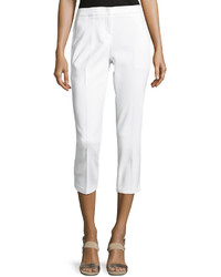Neiman Marcus Cotton Blend Skinny Pants White