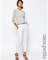 Asos Petite Linen Cigarette Pants With Belt