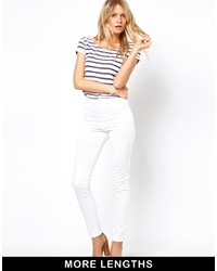 Asos Supersoft Stretch Skinny White