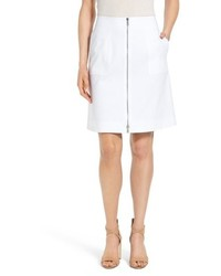 Lafayette 148 New York Cindy Zip Front A Line Skirt