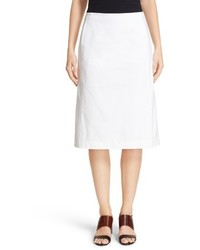 Lafayette 148 New York Coralyn Catalina Stretch Cotton Skirt