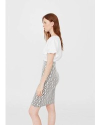 Mango Fitted Skirt