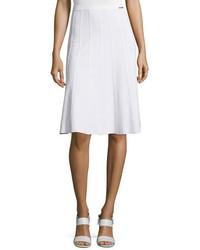 MICHAEL Michael Kors Michl Michl Kors A Line Sweater Skirt White