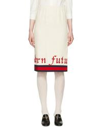 Gucci Off White Modern Future Gardenia Skirt