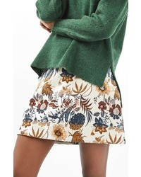 Topshop Pressed Flower A Line Skirt