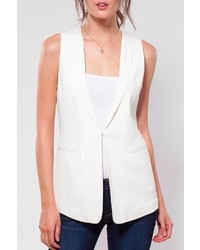 Ecru Ivory Sleeveless Jacket